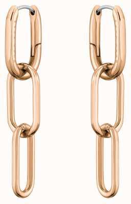 BOSS Jewellery Tessa Carnation Gold IP Link Earrings 1580202