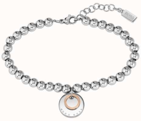 BOSS Jewellery Medallion Two Tone Stainless Steel Bracelet 1580227