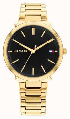 Tommy Hilfiger Zoey Gold Plated Steel Black Dial 1782407