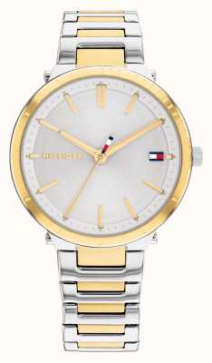 Tommy Hilfiger Zoey Gold Plated Two Tone Steel Silver Dial 1782408
