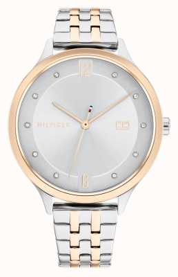 Tommy Hilfiger Grace Two Tone Steel Silver Dial 1782434