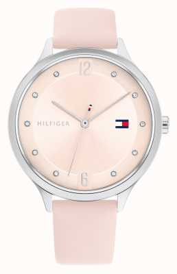 Tommy Hilfiger Grace Pink Leather Strap Silver Dial 1782429