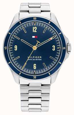 Tommy Hilfiger Maverick Stainless Steel Blue Dial 1791902