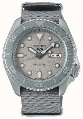 Seiko 5 Sport Cement Collection Nato 42.5 mm Watch SRPG61K1