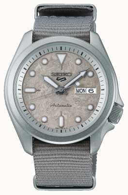 Seiko 5 Sport Cement 40 mm NATO Strap Watch SRPG63K1