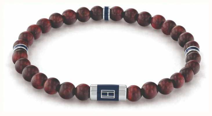 Tommy Hilfiger Men's Wood Beads Brown Bracelet 2790324