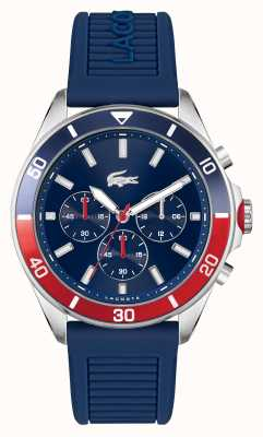 Lacoste TIEBREAKER Blue Silicone Watch 2011154