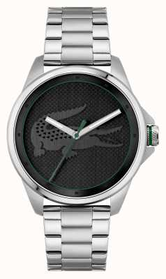 Lacoste LE CROC Black Dial Stainless Steel Bracelet 2011131