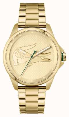 Lacoste LE CROC Gold Plated Stainless Steel Bracelet 2011133