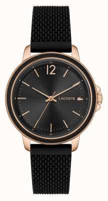 Lacoste SLICE Women's Black Silicone Watch 2001198