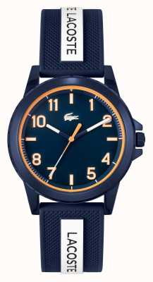 Lacoste Rider Blue and White Silicone Strap Watch 2020142