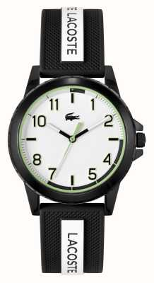 Lacoste Rider Black and White Silicone Strap Watch 2020141