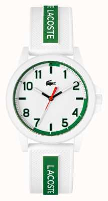 Lacoste Rider White and Green Silicone Strap Watch 2020140