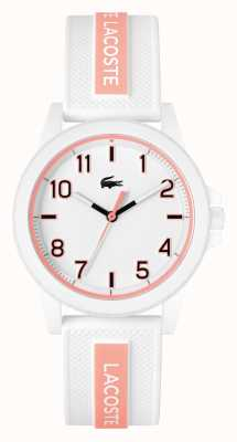 Lacoste Rider White and Pink Silicone Strap 2020143