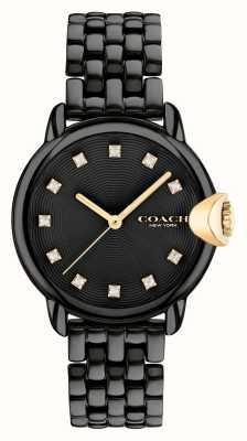 Coach Women's Arden Black IP Steel Bracelet 14503821