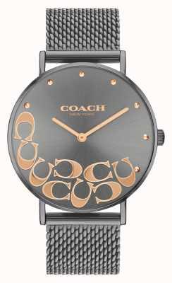 Coach Women's Perry Grey Mesh Bracelet Watch 14503825