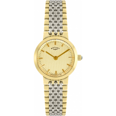Rotary Womens Two Tone Bracelet Champagne Dial Watch LB00497/03