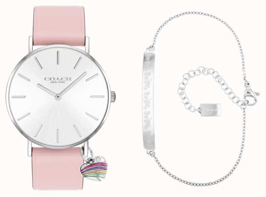 Coach | Perry Gift Set | Pink Leather Strap Watch | 14000074