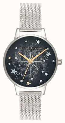 Olivia Burton Celestial Starburst Silver Mesh Strap OB16GD85