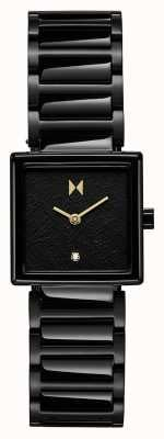 MVMT Frost Square Case Black Plated Steel Bracelet 28000145-D