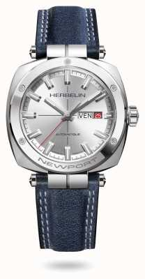 Michel Herbelin Newport Heritage Silver Sunray Dial Watch 1764/AP11BL