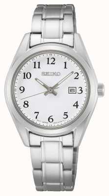 Seiko Women's White Dial Stainless Steel Bracelet SUR465P1