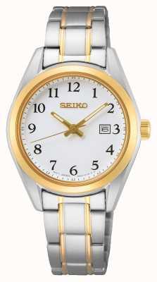 Seiko Women's White Dial Yellow Gold Stainless Steel Bracelet SUR466P1