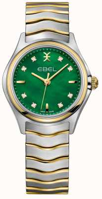 EBEL Wave Women's Dual-Tone Diamond Set Green Mother Of Pearl 1216440