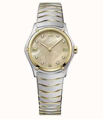 EBEL Sport Classic Dual Tone Stainless Steel / 18ct Yellow Gold Case Watch 1216488A