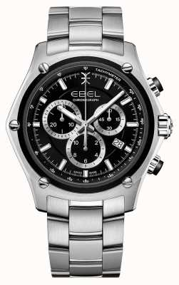 EBEL Discovery Men's Stainless Steel Black Dial 1216515