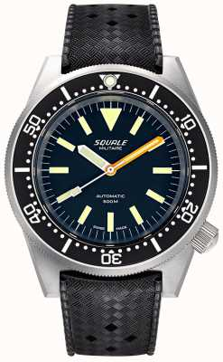 Squale Men's Automatic 1521 Militaire Bead Blasted Tropic Strap 1521MILIBL.HT