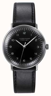 Junghans max bill Hand-winding | Black Leather Strap 027/3702.04