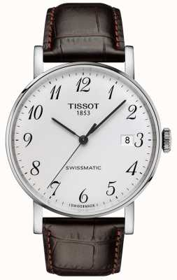Tissot | Men's | Everytime Swissmatic | Automatic | Brown Leather Strap | T1094071603200