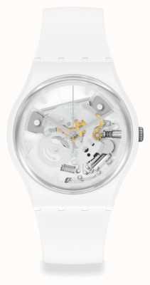 Swatch Spot Time White Skeleton Dial Watch SO31W102
