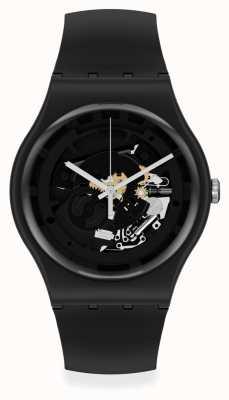Swatch Spot Time Black Skeleton Watch SO32B108