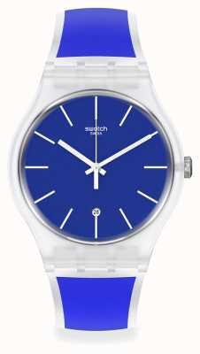Swatch Blue Trip Silicone Strap Watch SO29K400