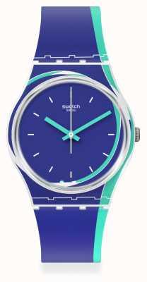 Swatch Blue Shore Silicone Strap Watch GW217