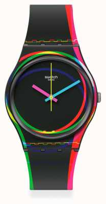 Swatch Red Shore Silicone Strap Watch GB333