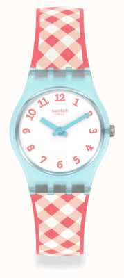 Swatch Picnoemie Red an Blue Silicone Strap Watch LL125