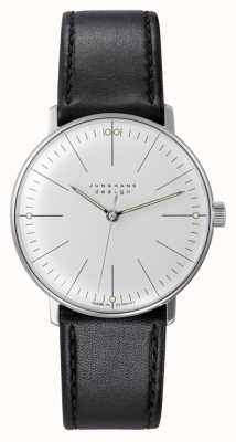 Junghans Max Bill Hand-winding Black Leather Strap 027/3700.04