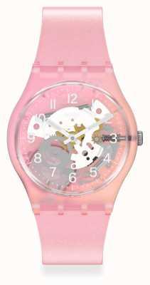 Swatch Skydawn Pink Silicone Strap Watch GP173