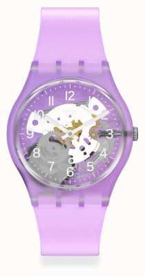 Swatch Tramonto Viola Lilac Silicone Strap GV136