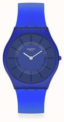 Swatch Deep Acqua Blue Silicone Strap SS08N102