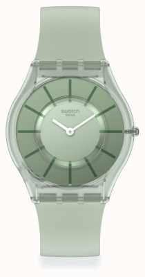 Swatch Vert D'Eau Green Silicone Strap SS08G103