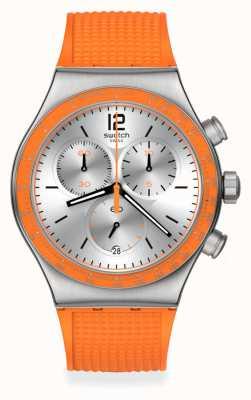 Swatch Hyperbrights Orange Rubber Strap YVS483