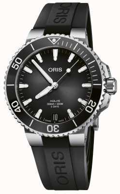ORIS Aquis Date Calibre 400 41.5mm Black Dial Anthracite Rubber 01 400 7769 4154-07 4 22 74FC
