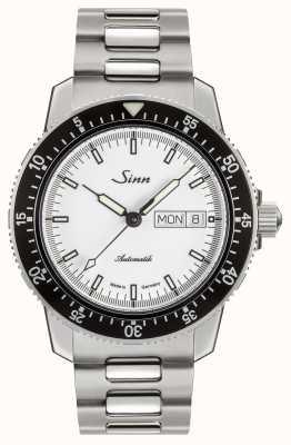 Sinn 104 St Sa I W Classic Pilot Watch Stainless Steel H Link Bracelet 104.012-BM1040104S