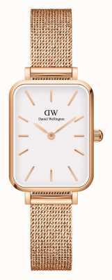 Daniel Wellington Quadro Women's Rectangular Rose-Gold Watch DW00100431