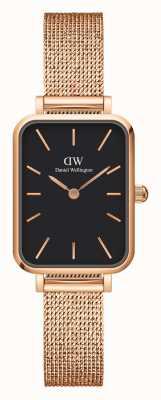 Daniel Wellington Quadro Women's Black Dial Rectangular Watch DW00100432