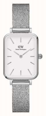 Daniel Wellington Quadro Women's Rectangular White Dial Watch DW00100438